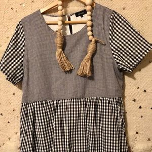 Gingham Baby Doll Dress